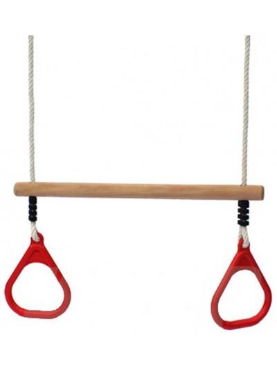 Трапеция с гимнастическими кольцами