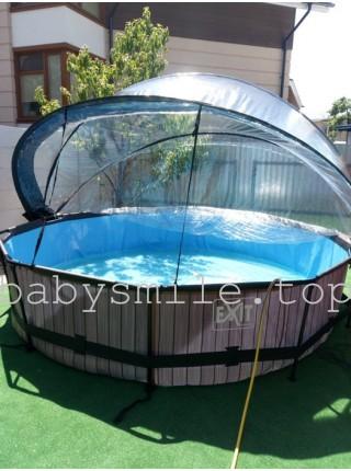 Бассейн круглый 360 см с куполом EXIT камень