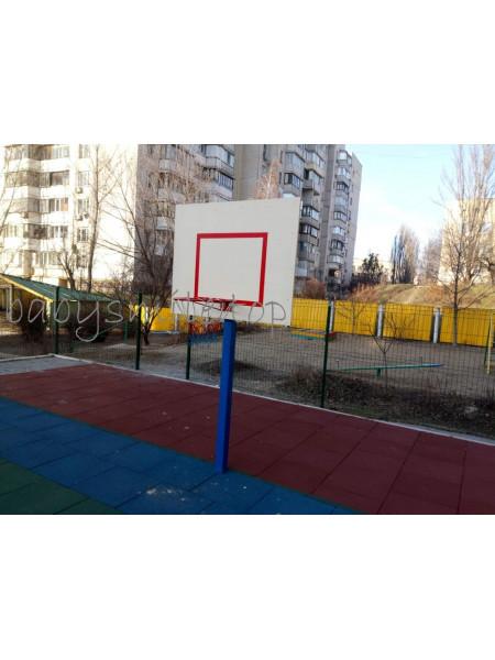 Стійка баскетбольна з дерев'яним щитом