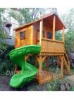 Будиночок дерев'яний двоповерховий з гіркою гвинтовою
