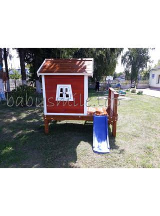 Дитячий дерев'яний будиночок Флігель з гіркою
