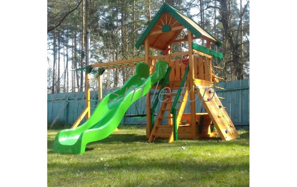 Детская площадка из дерева - доступная роскошь