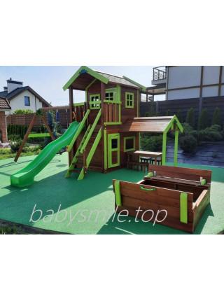 Деревянная площадка Spielplatz-26 с игровой кухней Exit