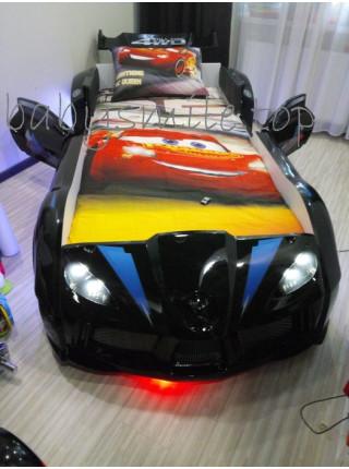 Ліжко машинка Audi чорна Туреччина
