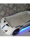 Кровать машинка BMW белая пластиковая