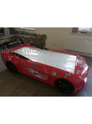 Ліжко-машина Chevrolet Camaro пластик червона