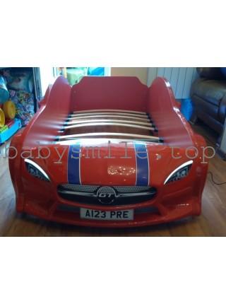 Ліжко машина GT з підсвіткою 80х160 Червона
