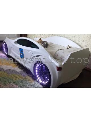 Кровать-машинка GT белая Турция 80х160 см