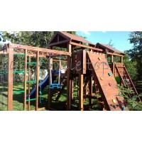 Ігровий майданчик з дерева вежа з будиночком-15