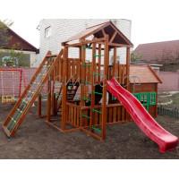 Ігровий майданчик з дерев'яним будиночком Вежа-11