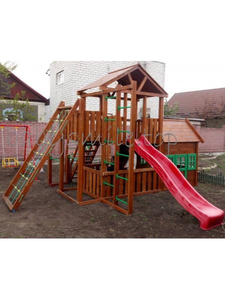Игровая площадка с деревянным домиком Башня-11