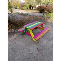 Дитячий столик з лавками для дитячого майданчика
