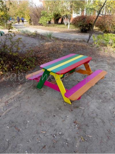 Детский столик с лавками для детской площадки