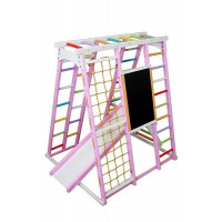 Игровой  комплекс с мольбертом Улыбка розовый