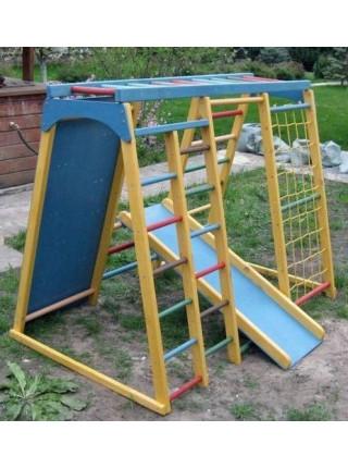 Дитячий спортивний комплекс для вулиці з скелелазкою