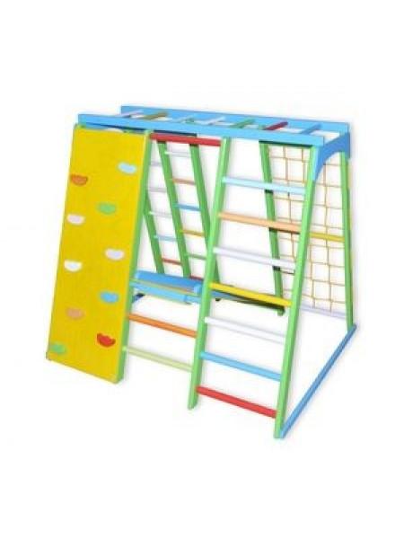 Детский спортивно-игровой комплекс Скалолаз из бука (цветной)