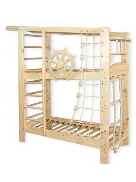 Двухъярусная кровать Юнга + спортивный уголок