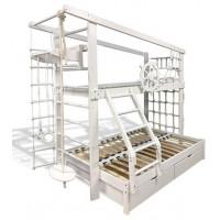 Двох'ярусне ліжко тримісне Юнга