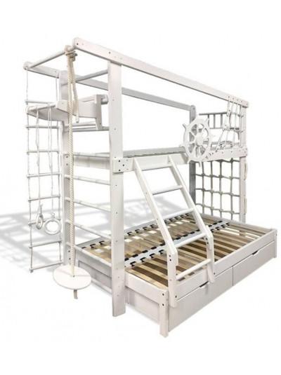 Двухъярусная кровать трёхместная Юнга