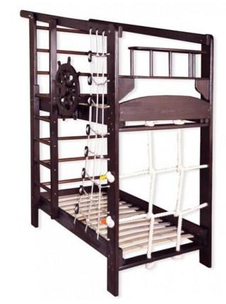 Двухъярусная спортивная кровать Юнга в тонировке