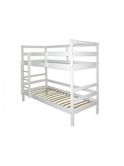 Кровать двухъярусная белая сосна
