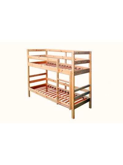 Ліжко двох'ярусне з сосни