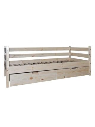 Кровать односпальная из сосны Стандарт БГК-2