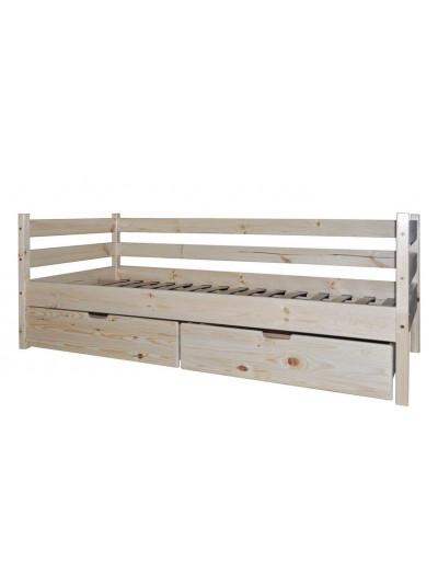 Ліжко односпальне з сосни Стандарт БГК-2