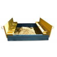 Детская песочница 2х2 метра из сосны с крышкой