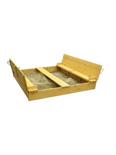 Песочница 2х2 метра деревянная с крышкой Грушка