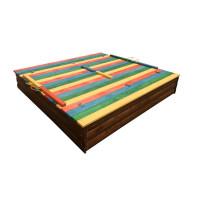 Дитяча пісочниця 1,5х1,5 метра кольорова з кришкою