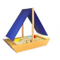 Дитяча пісочниця дерев'яна Човник