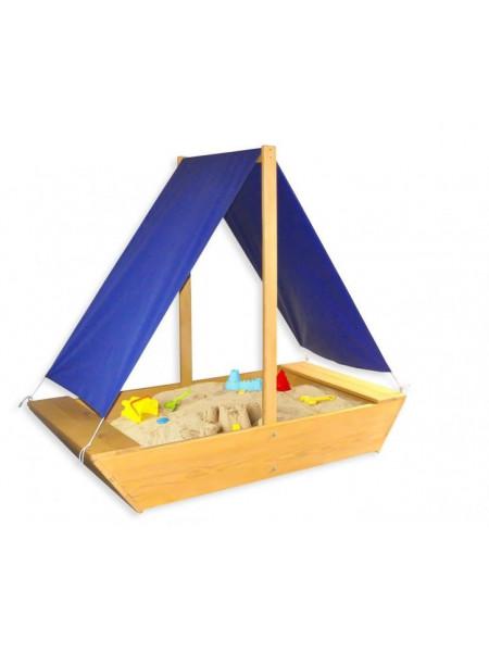 Песочница детская деревянная Лодочка