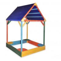 Песочница с тентовой крышей цветная 150 см