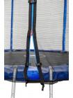 Батут Атлето 183см з сіткою і драбинкою синій