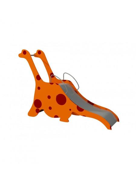 Гірка дитяча металева Динозавр
