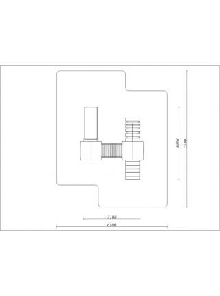 Дитячий майданчик з двома вежами Віолета