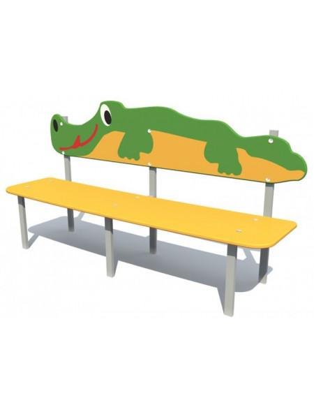 Лавка для детской площадки Крокодил