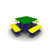 Стол с лавками Квадро-2