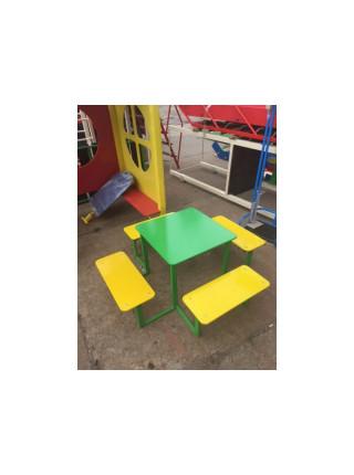 Стол с лавками Квадро-1