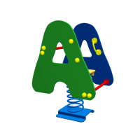 Качели-качалки на пружине Алфавит