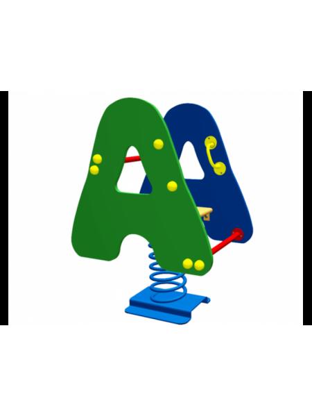 Гойдалка-качалка на пружині Алфавіт