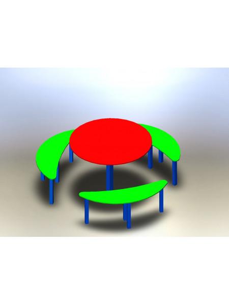 Комплект стіл з лавками