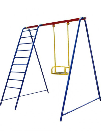 Одноместные качели с лестницей Да-709