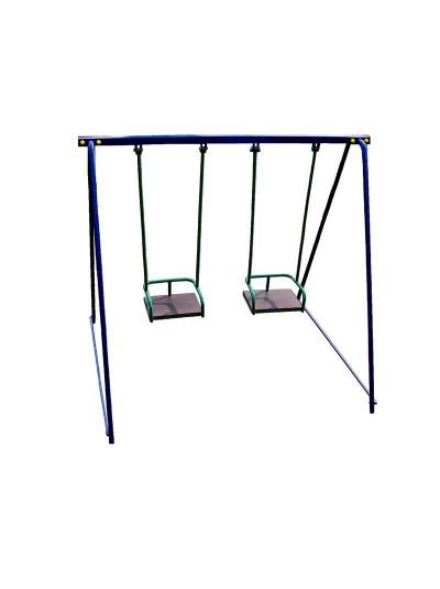 Детские качели для улицы двухместные металл Да-708