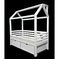 Кровать-домик с ящиками (ольха, ясень, дуб)