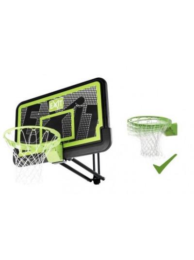 Баскетбольный щит Exit регулируемый чёрный+ кольцо с амортизацией