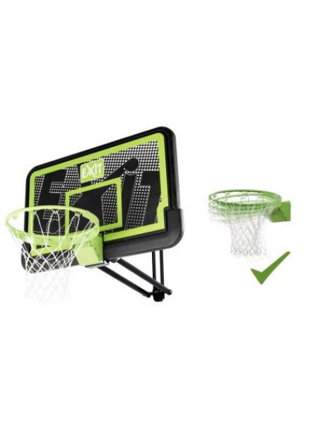 Баскетбольний щит Exit регульований чорний + кільце з амортизацією