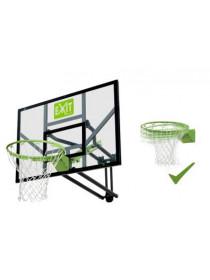 Баскетбольный щит Exit регулируемый + кольцо с амортизацией