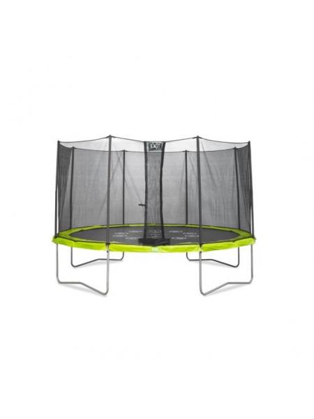 Батут EXIT Twist ø427cm - зелений/сірий